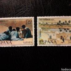 Sellos: SAHARA EDIFIL 320/1 SERIE COMPLETA NUEVA *** 1975 PRO INFANCIA. PINTURAS PEDIDO MÍNIMO 3 €. Lote 294982438