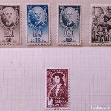 """Sellos: 3 IFNI 1950=1 DIA DEL SELLO 1950=1 GUINEA 1952 """"NUEVOS CON CHARNELA"""". Lote 295707888"""