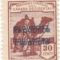 Sellos: CRCOL120 SELLO ESPAÑA SAHARA Nº CAT 48HHIX DOBLE SOBRECARGO 40. Lote 295726973