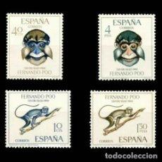 Sellos: FERNANDO POO EDIFIL 251-254 NUEVOS SIN CHARNELA MNH ** 1966 DÍA DEL SELLO. Lote 295882793