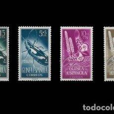 Sellos: GUINEA EDIFIL 330-333 NUEVOS SIN CHARNELA MNH ** 1953 DÍA DEL SELLO. Lote 295882838