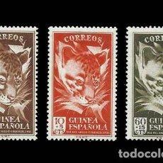 Sellos: GUINEA EDIFIL 306-308 NUEVOS SIN CHARNELA MNH ** 1951 DÍA DEL SELLO. Lote 295882843