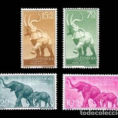 Sellos: GUINEA EDIFIL 369-372 NUEVOS SIN CHARNELA MNH ** 1957 DIA DEL SELLO. FAUNA. Lote 295882883