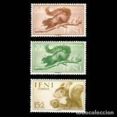 Sellos: IFNI EDIFIL 125-127 NUEVOS SIN CHARNELA MNH ** 1955 DÍA DEL SELLO. Lote 295882958