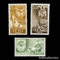 Sellos: IFNI EDIFIL 132-134 NUEVOS SIN CHARNELA MNH ** 1956 DÍA DEL SELLO. Lote 295882968