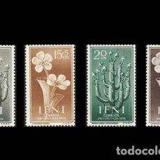 Sellos: IFNI EDIFIL 128-131 NUEVOS SIN CHARNELA MNH ** 1956 PRO INFANCIA. FLORA. Lote 295882973