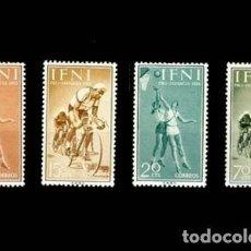 Sellos: IFNI EDIFIL 145-148 NUEVOS SIN CHARNELA MNH ** 1958 PRO INFANCIA. DEPORTES. Lote 295882993