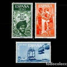 Sellos: IFNI EDIFIL 209-211 NUEVOS SIN CHARNELA MNH ** 1965 XXV AÑOS DE PAZ. Lote 295883053