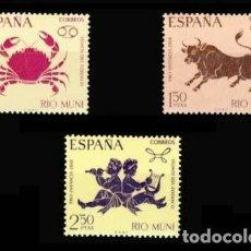 Sellos: RIO MUNI EDIFIL 83-85 NUEVOS SIN CHARNELA MNH ** 1967 PRO INFANCIA. SIGNOS DEL ZODÍACO. Lote 295883168