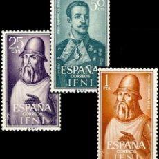 Sellos: IFNI, 1962. EDIFIL 187/89* ''PRO INFANCIA: PERSONAJES''./ NUEVOS, CON FIJASELLOS.. Lote 297038798