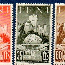 Sellos: IFNI.- EXCOLONIA ESPAÑOLA.- AÑO 1952. SERIE COMPLETA, EN NUEVOS. Lote 297062493