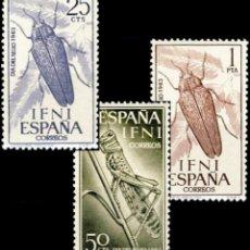 Sellos: IFNI, 1964. EDIFIL 200/02** ''DÍA DEL SELLO - INSECTOS''./ NUEVOS, SIN FIJASELLOS PERO CON ALGUNAS S. Lote 297064488