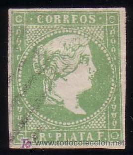 CUBA.(CAT. ANT.8/GRAUS 1448-III). 1 R. FALSO POSTAL TIPO III. PIEZA DE LUJO. RARO EN ÉSTA CALIDAD. (Sellos - España - Colonias Españolas y Dependencias - América - Cuba)