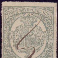 Sellos: CUBA. FISCAL. 1895. 5 C. DE PESO. TIMBRE MÓVIL. MUY BONITO.. Lote 24993074