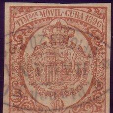 Sellos: CUBA. FISCAL. 1896. 5 C. TIMBRE MÓVIL. ANULADO CON MARCA *C. BLANCH CIA./HABANA/OFICIOS 20 Y 22*.. Lote 24993099