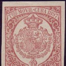 Sellos: CUBA. FISCAL. 1897. ** 5 C. DE PESO. TIMBRE MÓVIL. MAGNÍFICO.. Lote 24993107