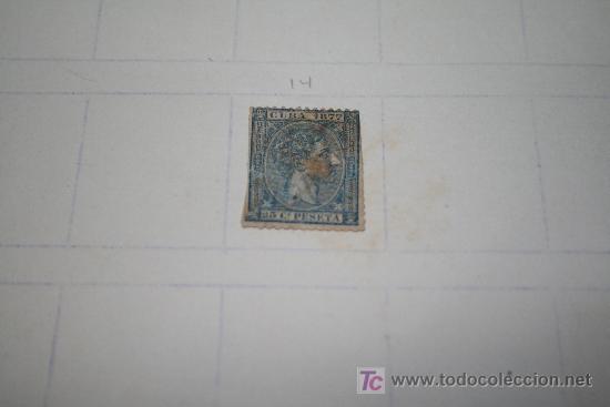 Sellos: SELLO CUBA 1877 ALFONSO XII - VALOR FACIAL 25 CÉNTIMOS DE PESETA - Foto 2 - 24859321