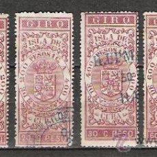 Sellos: 141-CLASICOS CUBA ESPAÑOLA SELLOS PARA GIRO 1886 1.20,1.80 Y 2.40 CTVOS PESO. Lote 19599965