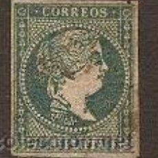 Sellos: SELLO COLONIAS ESPAÑOLAS ANTILLAS Nº 4 EDIFIL AÑO 1856 . Lote 27137371