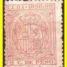 Sellos: CUBA FISCALES 1898 Y 1989 2 CTS CARMÍN *. Lote 19777663