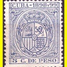Sellos: CUBA FISCALES 1898 Y 1989 5 CTS AZUL (*). Lote 19777743