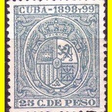 Sellos: CUBA FISCALES 1898 Y 1989 25 CTS VERDE (*). Lote 19777895