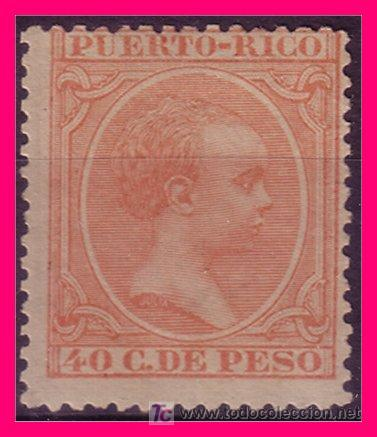 PUERTO RICO 1890 ALFONSO XIII, EDIFIL Nº 84 (*) (Sellos - España - Colonias Españolas y Dependencias - América - Puerto Rico)