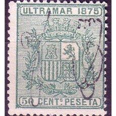 Sellos: PUERTO RICO 1875 ESCUDO DE ESPAÑA, EDIFIL Nº 6 (*). Lote 22179916