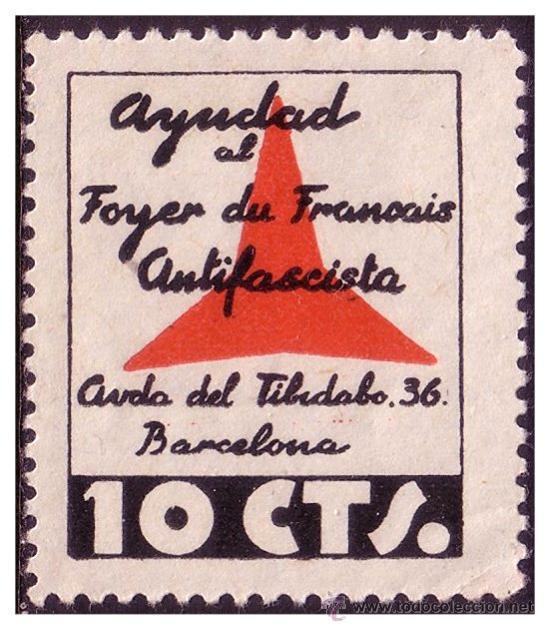 FOYER DU FRANÇAIS ANTIFASCISTE, GUERRA CIVIL, GUILLAMÓN Nº 2155A * * VARIEDAD (Sellos - España - Colonias Españolas y Dependencias - América - Otros)