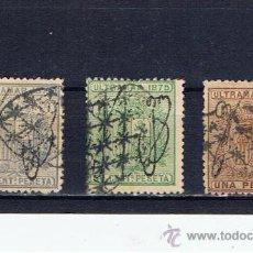 Timbres: 1875 USADO EDIFIL Nº 5-6-7 VALOR 2010 CAT. 35 EUROS CON MATASELLOS CONJUNTADOS SERIE COMPLETA. Lote 24489238