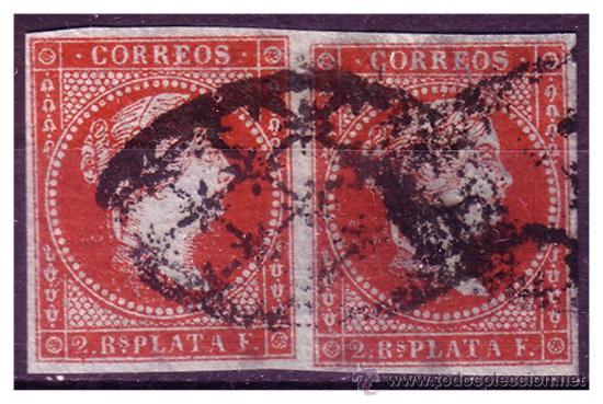 CUBA 1855 ISABEL II, B2 EDIFIL Nº 3 (O) (Sellos - España - Colonias Españolas y Dependencias - América - Cuba)