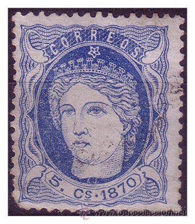 CUBA 1870 EFIGIE ALEGÓRICA DE ESPAÑA, EDIFIL Nº 24 (O) (Sellos - España - Colonias Españolas y Dependencias - América - Puerto Rico)