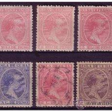 Sellos: CUBA 1894 ALFONSO XIII, EDIFIL Nº 130 A 139 *, 137 (O). Lote 23781624