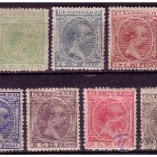 Sellos: PUERTO RICO 1896 ALFONSO XIII EDIFIL Nº 115 A 128 SIN 121 *. Lote 23950998