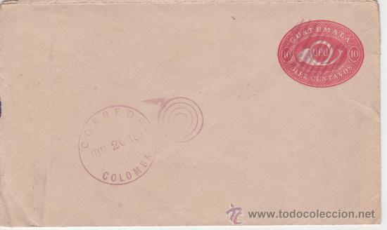 SOBRE COLOMBIA Y GUATEMALA 1894 (Sellos - España - Colonias Españolas y Dependencias - América - Otros)