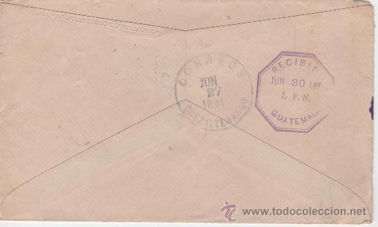 Sellos: SOBRE COLOMBIA Y GUATEMALA 1894 - Foto 2 - 27564635