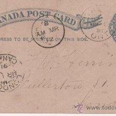 Sellos: TARJETA CANADA 1891 - LONDRES. Lote 27564637