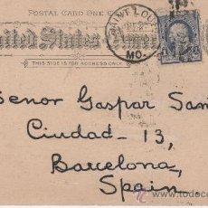 Sellos: TARJETA S. XIX - TEXTO SOBRE MOVIMIENTOS LABORALISTAS Y EJECUCIONES DE ANARQUISTAS EN BARCELONA. Lote 27564638