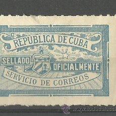 Sellos: 0025 CUBA - SELLADO OFICIALMENTE - SERVICIO DE CORREOS SIN VALOR AZUL. Lote 26914576