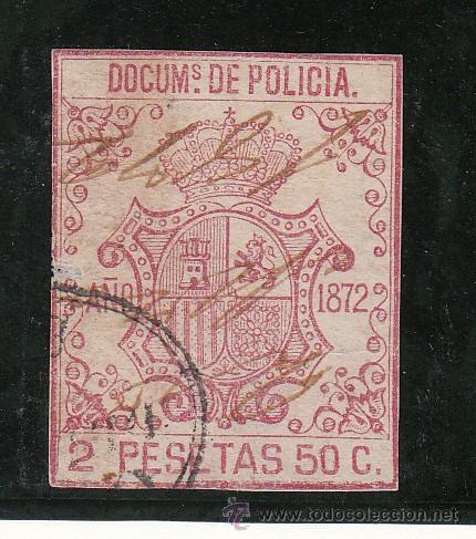 ,ANTILLAS FISCAL CATALOGO FORBIN POLICIA 87 USADA, POLICIA 1872 (Sellos - España - Colonias Españolas y Dependencias - América - Antillas)