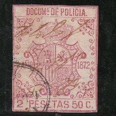 Sellos: ,ANTILLAS FISCAL CATALOGO FORBIN POLICIA 87 USADA, POLICIA 1872. Lote 27780029