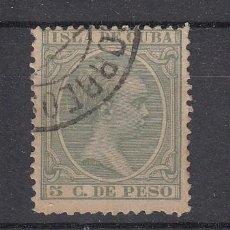 Sellos: ,CUBA 127 USADA, ALFONSO XIII, PELON. Lote 27801209