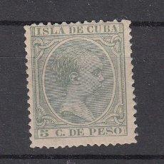 Sellos: ,CUBA 127 SIN GOMA, ALFONSO XIII, PELON. Lote 27801237