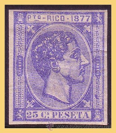 PUERTO RICO 1877 ALFONSO XII, EDIFIL Nº 16S (*) (Sellos - España - Colonias Españolas y Dependencias - América - Puerto Rico)