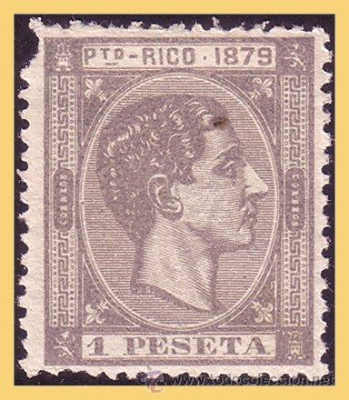 PUERTO RICO 1879 ALFONSO XII, EDIFIL Nº 28 * * (Sellos - España - Colonias Españolas y Dependencias - América - Puerto Rico)
