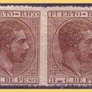 Sellos: PUERTO RICO 1882 ALFONSO XII, EDIFIL Nº 64 + 66ECA (*). Lote 28207862
