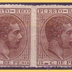 PUERTO RICO 1882 Alfonso XII, EDIFIL nº 64 + 66eca (*)