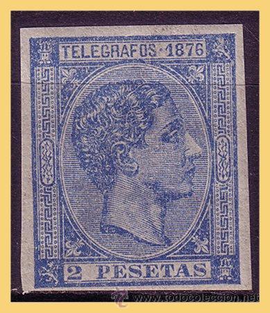 PUERTO RICO TELÉGRAFOS 1876 ALFONSO XII, EDIFIL Nº 11S * (Sellos - España - Colonias Españolas y Dependencias - América - Puerto Rico)