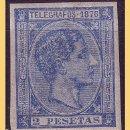 Sellos: PUERTO RICO TELÉGRAFOS 1876 ALFONSO XII, EDIFIL Nº 11S *. Lote 28216348