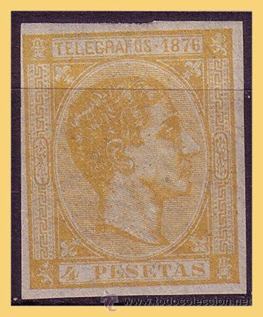 PUERTO RICO TELÉGRAFOS 1876 ALFONSO XII, EDIFIL Nº 12S * (Sellos - España - Colonias Españolas y Dependencias - América - Puerto Rico)